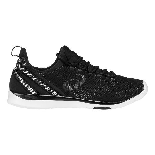 Womens ASICS Gel-Fit Sana Cross Training Shoe - Black/White 6.5