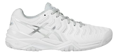 Womens ASICS Gel-Resolution 7 Court Shoe - White/Silver 10.5