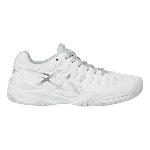 Womens ASICS Gel-Resolution 7 Court Shoe - White/Silver 10