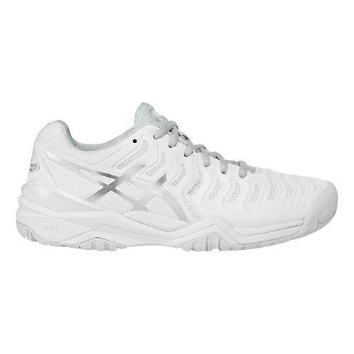 Womens ASICS Gel-Resolution 7 Court Shoe - White/Silver 11.5