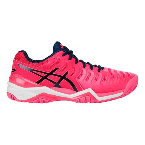 Womens ASICS Gel-Resolution 7 Court Shoe - Pink/Blue 10.5