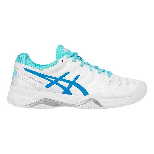 Womens ASICS Gel-Challenger 11 Court Shoe - White/Blue 7.5