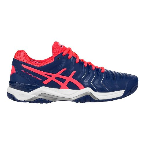Womens ASICS Gel-Challenger 11 Court Shoe - Blue/Pink 10.5