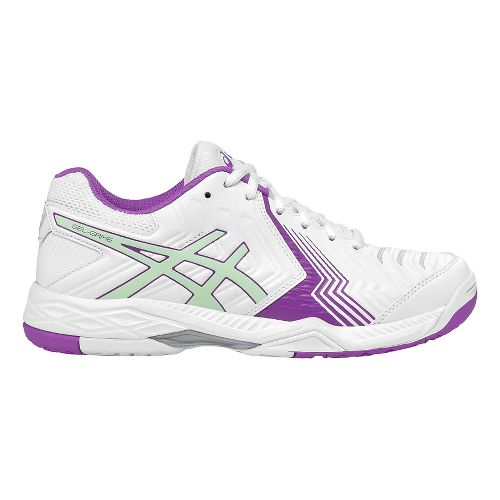 Womens ASICS Gel-Game 6 Court Shoe - White/Green 11.5