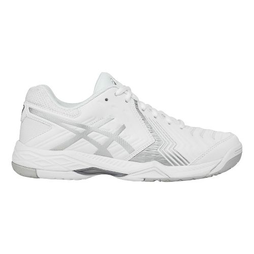 Womens ASICS Gel-Game 6 Court Shoe - White/Silver 10.5