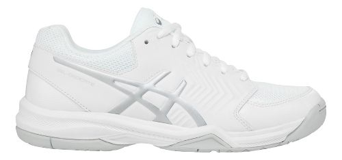 Womens ASICS Gel-Dedicate 5 Court Shoe - White/Silver 11.5