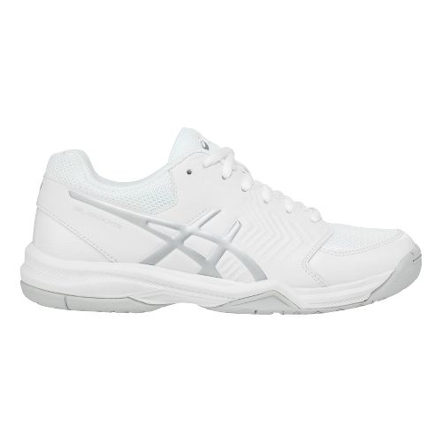 Womens ASICS Gel-Dedicate 5 Court Shoe - White/Silver 10.5