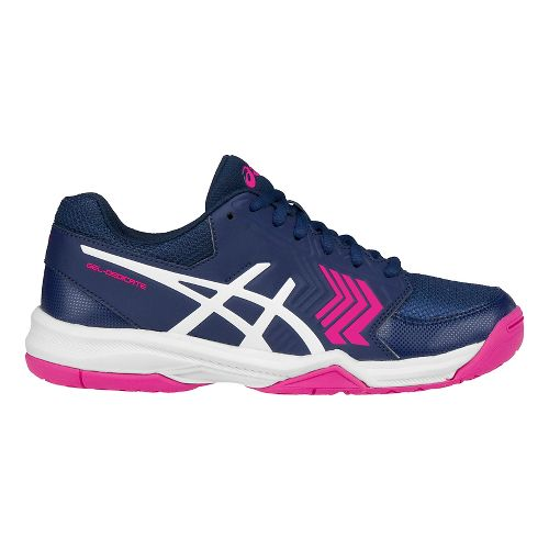 Womens ASICS Gel-Dedicate 5 Court Shoe - Blue/White 10.5