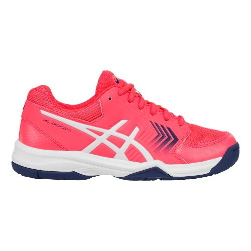 Womens ASICS Gel-Dedicate 5 Court Shoe - Pink/White 6