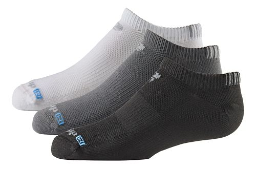 R-Gear Kids Drymax Thin No Show 3 pack Socks - White/Black/Grey XS