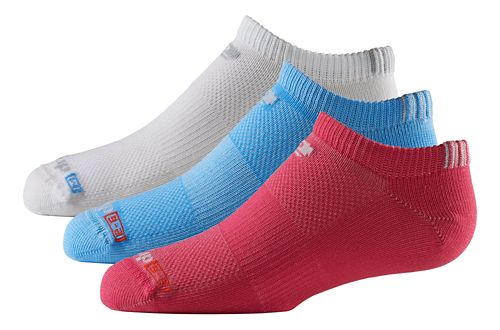 R-Gear Kids Drymax Thin No Show 3 pack Socks - Oct Pink/White/Blue XS