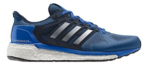 Mens adidas Supernova ST Running Shoe - Blue/Silver 12.5