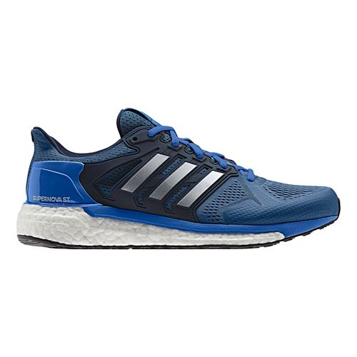 Mens adidas Supernova ST Running Shoe - Blue/Silver 8.5