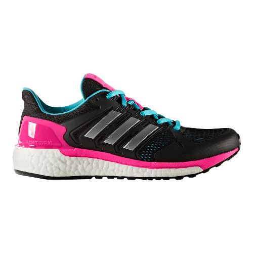 Womens adidas Supernova ST Running Shoe - Black/Silver 8.5