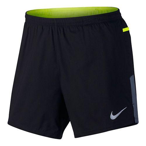 Mens Nike Flex Trail Lined Shorts - Black/Volt M