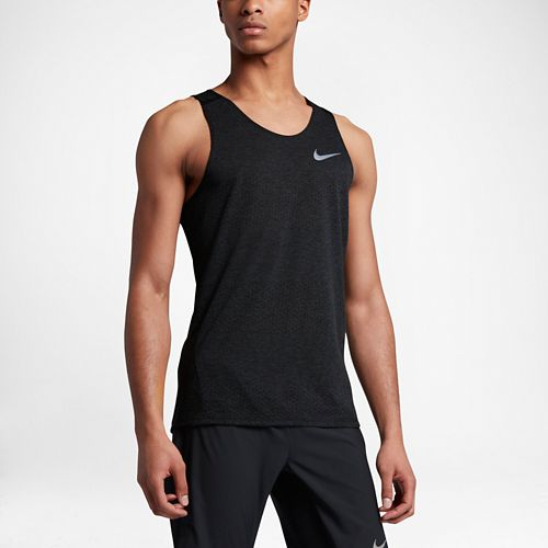 Mens Nike Breathe Tailwind Sleeveless & Tank Technical Tops - Black L