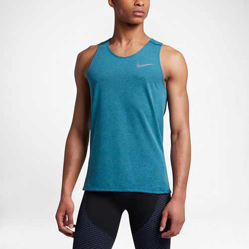 Mens Nike Breathe Tailwind Sleeveless & Tank Technical Tops - Industrial Blue S