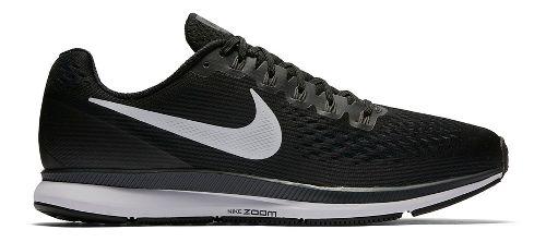 Mens Nike Air Zoom Pegasus 34 Running Shoe - Black/White 10