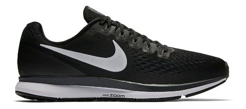 Mens Nike Air Zoom Pegasus 34 Running Shoe - Black/White 12