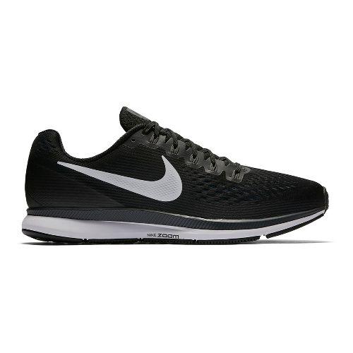 Mens Nike Air Zoom Pegasus 34 Running Shoe - Black/White 11.5