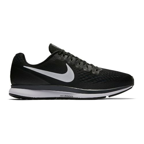 Mens Nike Air Zoom Pegasus 34 Running Shoe - Black/White 14