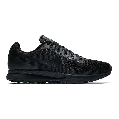 Mens Nike Air Zoom Pegasus 34 Running Shoe - Black/Black 11.5