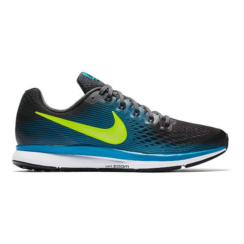 Mens Nike Air Zoom Pegasus 34 Running Shoe - Black/Blue 11