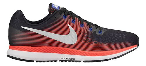 Mens Nike Air Zoom Pegasus 34 Running Shoe - Black/Red 9.5