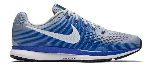 Mens Nike Air Zoom Pegasus 34 Running Shoe - Grey/Blue 11.5