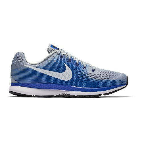 Mens Nike Air Zoom Pegasus 34 Running Shoe - Grey/Blue 11.5