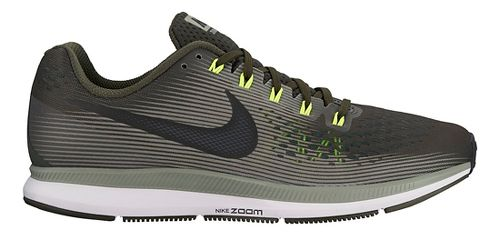 Mens Nike Air Zoom Pegasus 34 Running Shoe - Olive 8.5