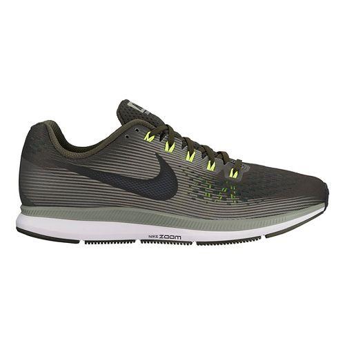 Mens Nike Air Zoom Pegasus 34 Running Shoe - Olive 9.5
