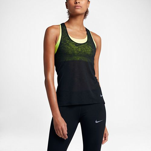 Womens Nike Breathe Cool Sleeveless & Tank Technical Tops - Black M