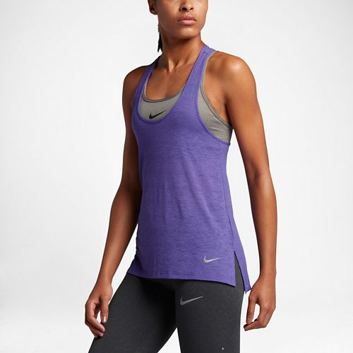 Womens Nike Breathe Cool Sleeveless & Tank Technical Tops - Dark Iris XL