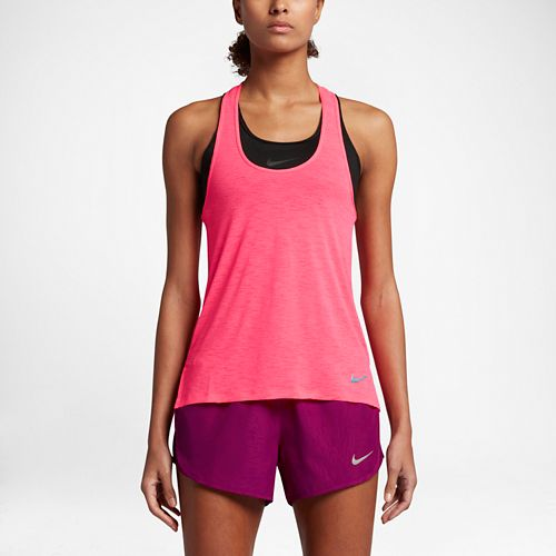Womens Nike Breathe Cool Sleeveless & Tank Technical Tops - Racer Pink S