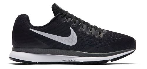 Womens Nike Air Zoom Pegasus 34 Running Shoe - Black/White 10