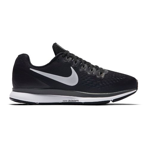 Womens Nike Air Zoom Pegasus 34 Running Shoe - Black/White 11
