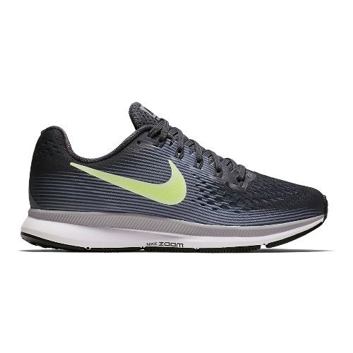 Womens Nike Air Zoom Pegasus 34 Running Shoe - Grey/Green 10
