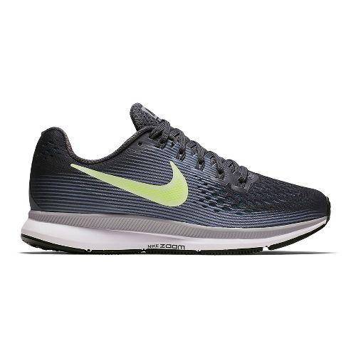 Womens Nike Air Zoom Pegasus 34 Running Shoe - Grey/Green 10.5