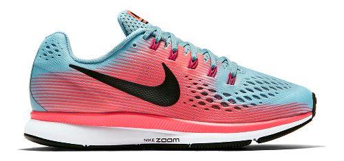 Womens Nike Air Zoom Pegasus 34 Running Shoe - Blue/Pink 5.5