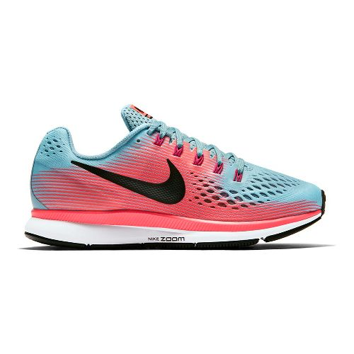 Womens Nike Air Zoom Pegasus 34 Running Shoe - Blue/Pink 12