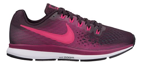 Womens Nike Air Zoom Pegasus 34 Running Shoe - Black/Wine 11