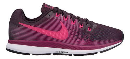 Womens Nike Air Zoom Pegasus 34 Running Shoe - Black/Wine 6.5
