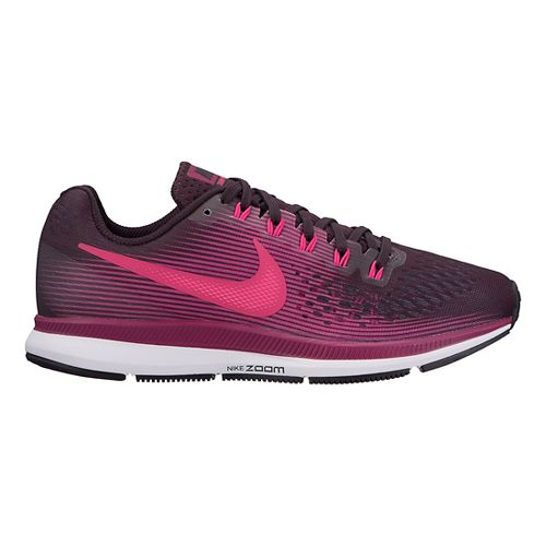 Womens Nike Air Zoom Pegasus 34 Running Shoe - Black/Wine 7