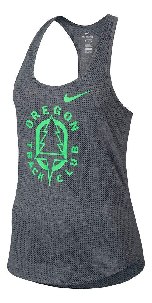 Womens Nike Oregon TC Sleeveless & Tank Technical Tops - Carbon Heather L
