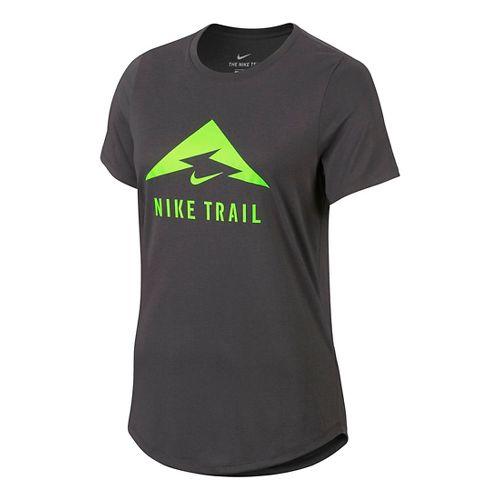 Womens Nike Trail Tee Short Sleeve Technical Tops - Midnight Fog M