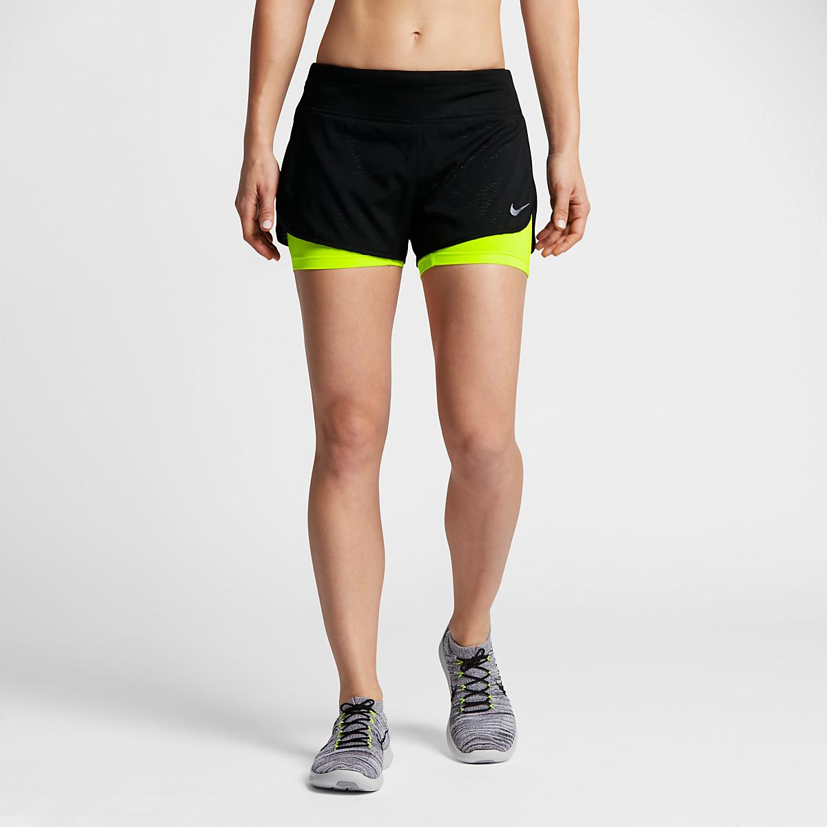 womens nike 2 in 1 3 rival shorts at road runner sports. Black Bedroom Furniture Sets. Home Design Ideas