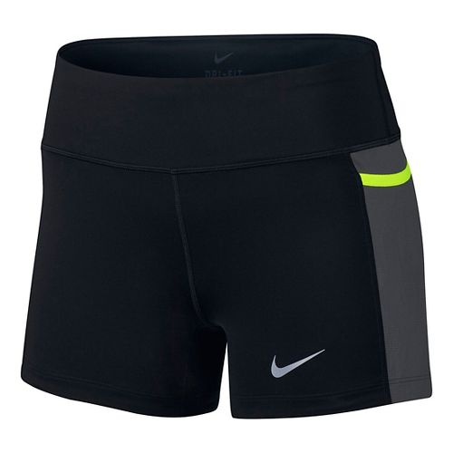 Womens Nike Power Trail Boyshort Compression & Fitted Shorts - Black/Anthracite S