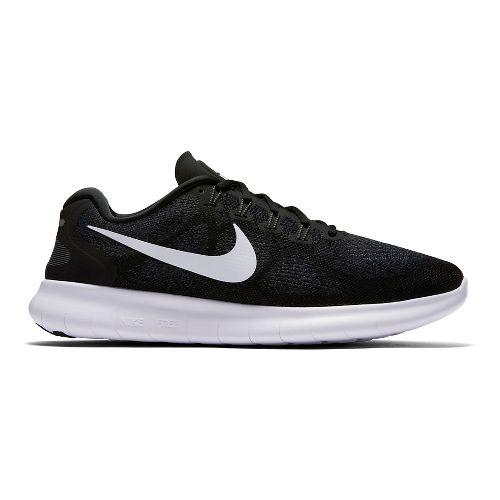 Mens Nike Free RN 2017 Running Shoe - Black 9