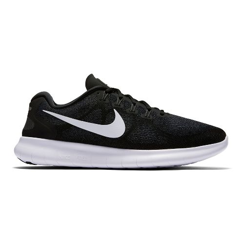 Mens Nike Free RN 2017 Running Shoe - Black 9.5